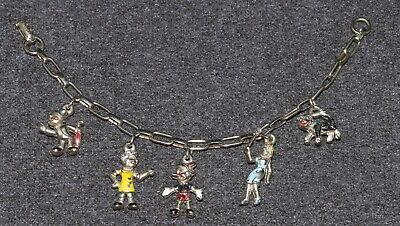 Disney 1960s Pinocchio Charm Bracelet Vintage