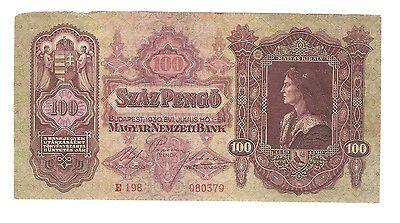 Ungarn Banknote 100 Pengö 1930