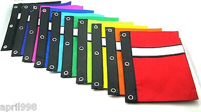 BAZIC Pencil Case Pouch 3-Ring with white strip wholesale pr