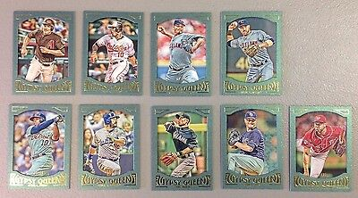2016 Topps Gypsy Framed Green Paper U Pick Set Builder Lot  99  1 99 2 99