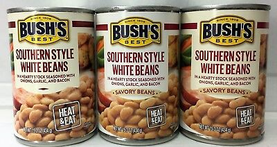 Bush's Best Southern Style White Beans 15.3 oz (3 cans) Canned White Bean Soup