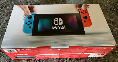 Nintendo Switch 32GB Gray Console with Neon Red and Neon Blue Joy-Con **NEW**