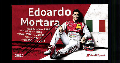 Edoardo Mortara Autogrammkarte Original Signiert Motorsport + G 15109