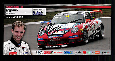 Hannes Plesse Autogrammkarte Original Signiert Motorsport + G 15137