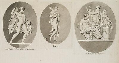 des Bacchus und Iole, griechische Mythologie, um 1800, Rad. (Faun Griechischen Mythologie)