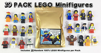 ☀️ NEW 10 Lot of 100% LEGO Minifigures Mixed Ninjago Star Wars City & much more!