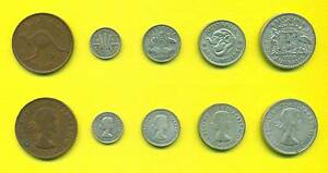 1958 Australian Pre-Decimal Coin Set (5 Coins) Florin, Shilling.. Banyo Brisbane North East Preview