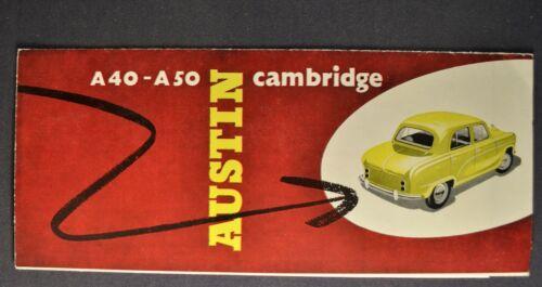 1955-1956 Austin A40 A50 Cambridge Sales Brochure Folder Excellent Original