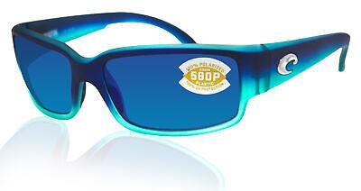 Costa Del Mar Caballito Caribbean Fade Frame Blue Mirror 580P Plastic (Caballito Costa)