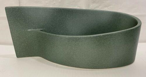 "Ikebana 11"" Vase Japan Slab Ceramic Planter Pot Vase Mid Century Fin Sculpture"