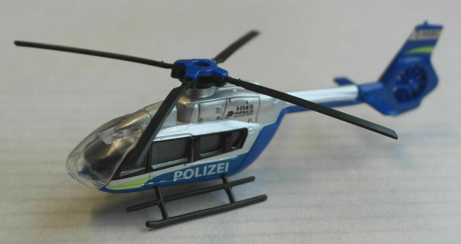 Majorette Eurocopter EC145 Hubschrauber silber/blau POLIZEI German Police Heli