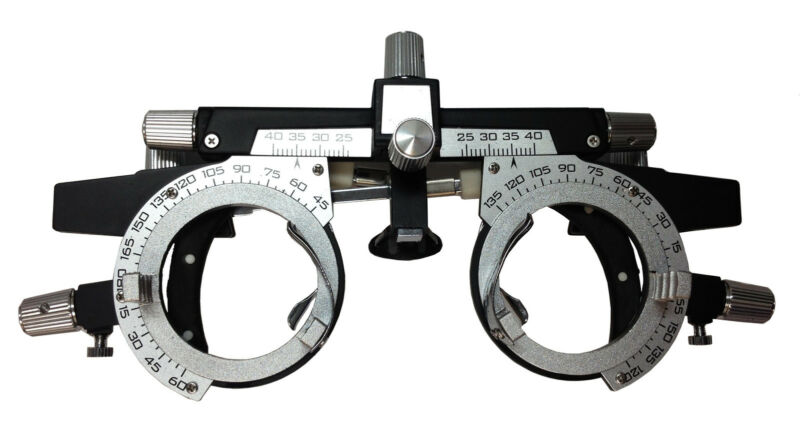 Optical trial frame fully adjustable for optometry optician eyecare professional