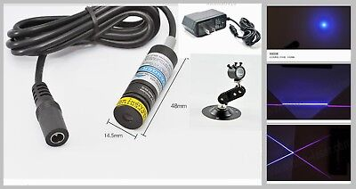 Focusable 50mw 405nm Violetblue Dotlinecross Laser Diode Module 5v 14.5x48mm