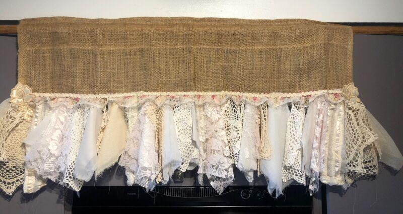 Shabby Boho Chic Garland Nursery  Dolly  Fabric Flowers. Burlap