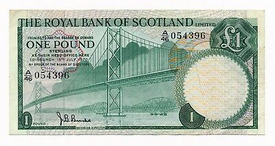 The Royal Bank of Scotland 1 Pound 1970 P. 329 VF Note  for sale  Shipping to Canada