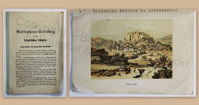 Wolkenkurort Streitberg Fränkische Schweiz Wiesenthal 1878 mit Farblithografie