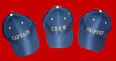"Kapitänsmütze, Cap, ""Captain"", ""Skipper"", ""Crew"""