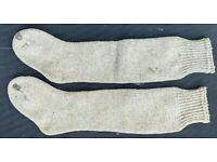 Socks,StockingsCotton over the knee sock Heavy Natural18th Century Reproduction
