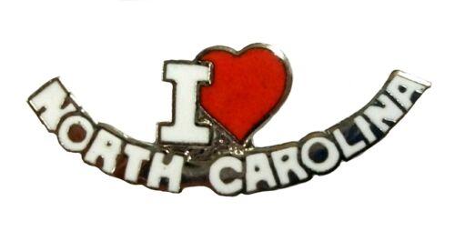 I Love North Carolina Small Hat Tac or Lapel Pin