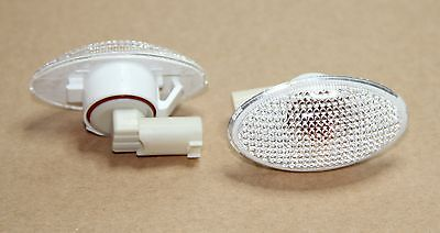 2x BMW MINI R50 R52 R53 CLEAR INDICATOR SIDE REPEATER KIT ASSEMBLY (PAIR)