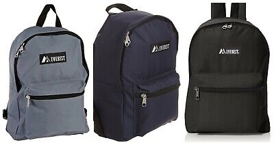 Everest Classic Plain Backpack Different colors