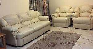 Haig quality real leather with recliner lounge suite sofa set Stirling Stirling Area Preview