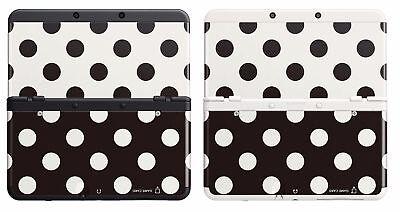 Cubierta Carcasa Case Nintendo New 3DS No.015 puntos blanco negro N3DS