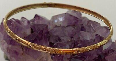 3.5 GRAM 14K SOLID YELLOW GOLD ETCHED/ ENGRAVED BANGLE BRACELET Gram 14k Gold Bracelet