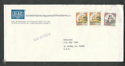 Italy 1987 air mail cover SIAP Bologna to USA