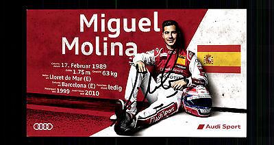 Miguel Molina Autogrammkarte Original Signiert Motorsport + G 15083