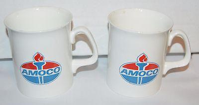 2 AMOCO GASOLINE Duchess Fine Bone China COFFEE MUGS NEW RARE Made In England