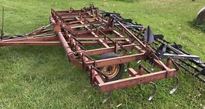 White Cultivator - 17.5ft with Buhler tine harrows