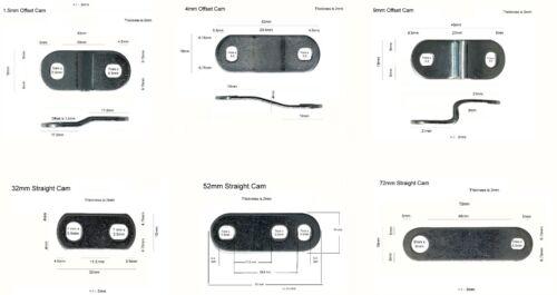 Admiral Locks Additional Cams, Straight Cams, Offset Cams for Tubular Cam Locks
