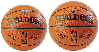 Spalding NBA Indoor/Outdoor Replica Game Ball, 2 Sizes - Outdoor Ball Games