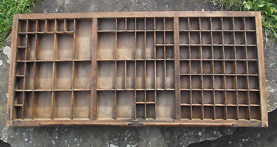 Rare Vintage Printers Wood & Brass Letterpress Type Tray / Case