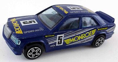 Burago Bburago Mercedes Benz 190E 16v 2,3 1/43 1:43 Rally Monroe Gas blau W201