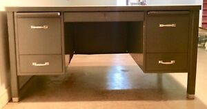 Vintage  *Solid* Metal Desk & Work Surface