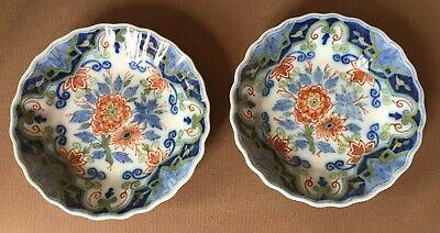 Antique MAKKUM pottery Holland  2 wallplates Flowers. Marked blue mark