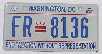 Washington D.C. District of Columbia USA Auto Nummernschild License Plate
