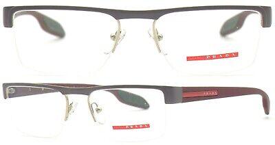 Prada Linea Rossa Brillenfassung PS57EV QE7-1O1 51mm grau matt Halbrand 426 54