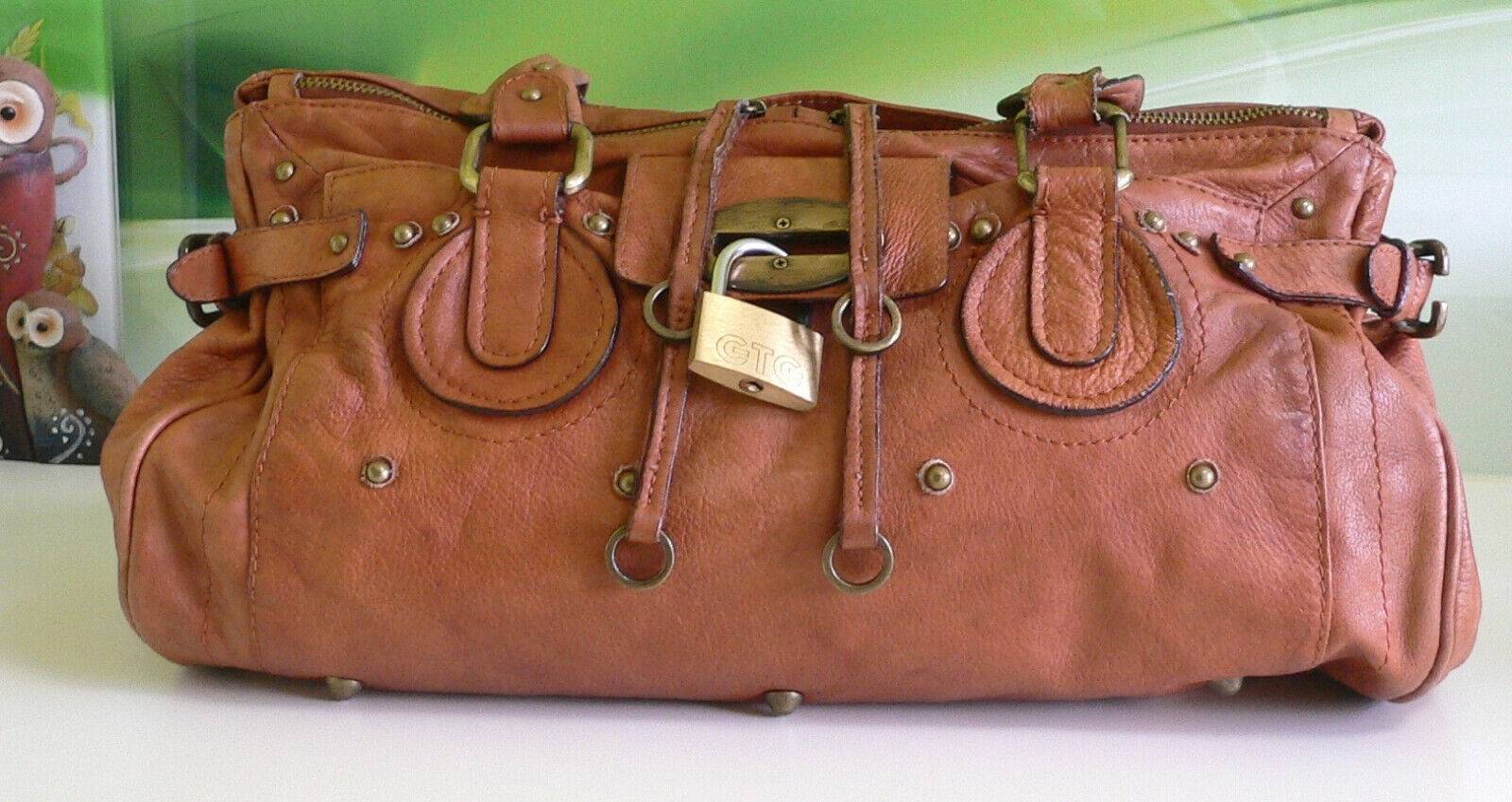 "✅ Handtasche ""Vera Pelle"" Italy,Echt Leder.Guten Zustand..❣️"