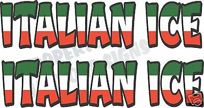 Italian Ice Decal 2 18 Concession Restaurant Food Truck Van Vinyl Letters