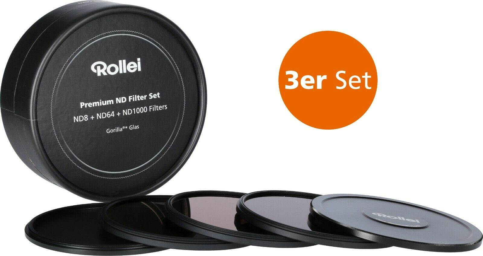 Rollei Graufilter Set (ND8 / ND64 / ND1000) Premium