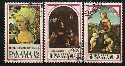 Panama 1966 Famous Paintings Cto Used Set #D39413