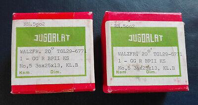 2 Stück JUGOALAT, Walzfräser 20°, TGL 29-6771, M o,5, 30x25x13, Kl. B,HSS, neuw.