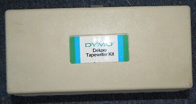Vintage 1974 Dymo1570 Label Maker Office Kit Black Silver Bundlel Carry Case Box
