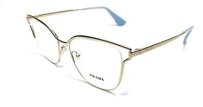 Prada VPR 54U ZVN-1O1 Gold Women's Authentic Eyeglasses Frame 51-17