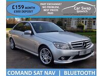 MERCEDES BENZ C CLASS C180 KOMPRESSOR BLUEEFFICIENCY SPORT (silver) 2009