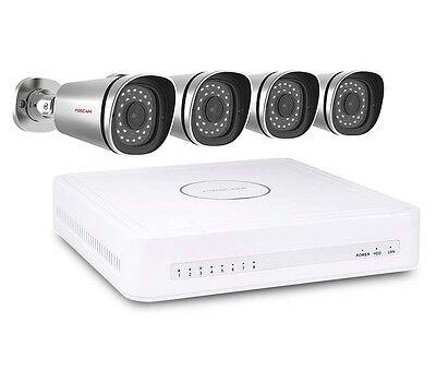 Foscam FN3108XE-B4-1T 4 Kanal PoE Überwachungsset Komplettset Videoüberwachung