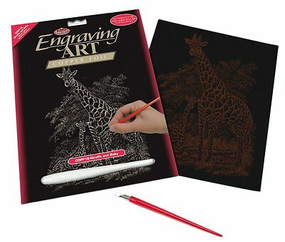 (Royal and Langnickel - Engraving Art Set – Giraffe and Baby – Copper Foil)